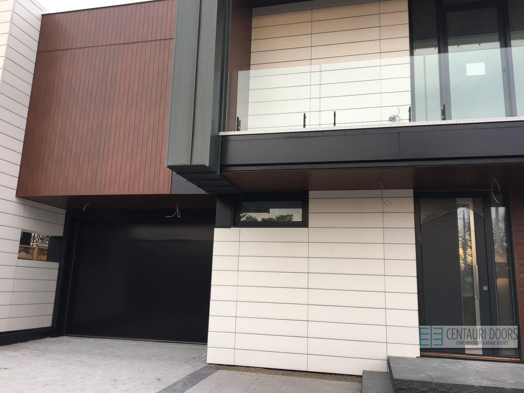 Centauri Garage Doors Modern Smooth Frameless Glass