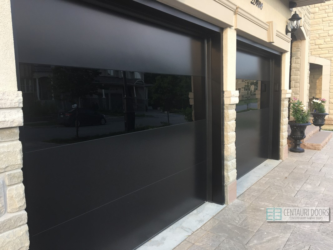 Centauri Garage Doors Modern Smooth Frameless Glass Garage Doors